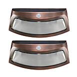 2pcs detección de movimiento de luz de energía solar 8 led luces de pared al aire libre sonrientes impermeables luces de noche de