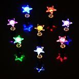 Недорогие -1pcs вел цвет изменяя звездой формы серьги уха затычки для танцевальной вечеринки
