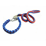 Dog Leash Portable Solid Nylon Black Red Green Blue