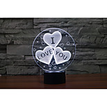 1 Set, Home Bedroom Acrylic 3D Night Light LED Lamp USB Mood Lamp, Available Battery, Colorful, 3W, IOU