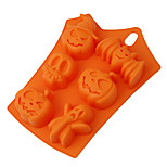 Halloween Pumpkin Cake Mold 6 Cavities Pumpkin Ghost Bat Shape Decorating Tools
