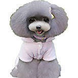 Dog Clothes/Jumpsuit Dog Clothes Casual/Daily Bone Blushing Pink Red Brown