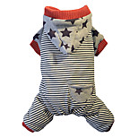 Dog Hoodie Dog Clothes Warm Casual/Daily Stripe Red Costume For Pets