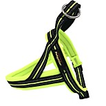 Dog Harness Reflective Solid Nylon Black Orange Green