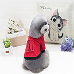 Dog Sweatshirt Dog Clothes Stylish Solid Red Black Costume For Pets