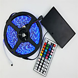 Light Strip Suit 12V Battery Powered 5M 5050 300 Lamp Waterproof RGB 44 key Remote Control