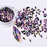 coquille de paillettes colorées coloré nail art décoration 6pcs / set