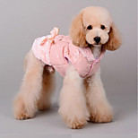 Cat Dog Coat Dog Clothes Casual/Daily Keep Warm Halloween Christmas Bowknot Blushing Pink Coffee