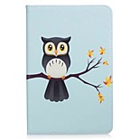 Owl Pattern Card Holder Wallet with Stand Flip Magnetic PU Leather Case for Samsung Galaxy Tab A 8.0 T350 T355 8.0 inch Tablet PC