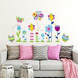 ботанический Цветочные мотивы/ботанический Мода Наклейки Простые наклейки Декоративные наклейки на стены материал Украшение дома Наклейка
