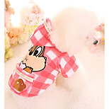 Dog Hoodie Dog Clothes Plush Fabric Down Winter Spring/Fall Casual/Daily Cartoon Yellow Pink For Pets