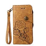 Кейс для Назначение Huawei P9 P10 Кошелек Бумажник для карт со стендом Флип С узором Чехол Цветы Твердый Искусственная кожа для Huawei