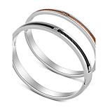 Men's Women's Bangles Basic Heart Stainless Steel Leather Jewelry For Holiday Going out