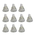 10pcs 5W GU10 LED Spotlight 10 leds High Power LED Dimmable White 400lm 6000K 110-120V