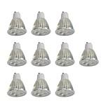 10 шт. 5W GU10 Точечное LED освещение 10 светодиоды Высокомощный LED Диммируемая Белый 400lm 6000K 110-120V