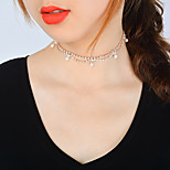 Women's Choker Necklaces Crystal Imitation Pearl Drop Zircon Alloy Sexy Metallic Fashion Bling Bling Jewelry For Birthday Graduation Gift