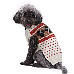 Dog Sweater Dog Clothes Acrylic Fibres Down Winter Spring/Fall Casual/Daily British Beige Costume For Pets