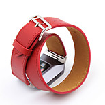 For Fitbit Ionic High Quality Extra Long Genuine Leather Strap For Fitbit Ionic  Double Tour Bracelet Leather Watchband