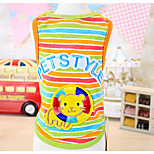 Dog Vest Dog Clothes Casual/Daily Stripe Rainbow