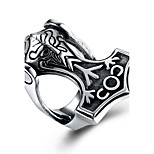 cheap -Men's Statement Rings , Metallic Hiphop Gothic Stainless Steel Geometric Jewelry New Year Valentine