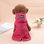 Cat Dog Hoodie Dog Clothes Keep Warm Casual/Sporty Christmas Solid Black Red Costume For Pets