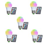 5pcs A50 3W RGB E27 LED Bulb LED Lamp 16 Color 24 key IR Remote Control Chandelier for Living Room Dimmable AC85-265V