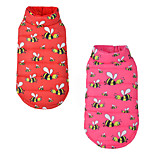 Cat Dog Vest Dog Clothes Breathable Casual/Daily Cartoon Red Pink Costume For Pets