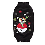 Dog Sweater Dog Clothes Christmas Christmas Christmas Black Costume For Pets