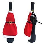 Недорогие -1шт рождественский винный бутылка юбка рождественский декор обложка сумка украшение кухня ужин