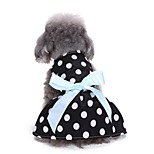 Cat Dog Tuxedo Dress Dog Clothes Party Casual/Daily Wedding New Year's Polka Dots Black