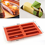 Silicone Eclair 8 Forms Baking Classic Collection Shapes Finger Non Stick Mold Cake Tools