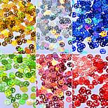 Smile Colorful Sequins Shell Colorful Nail Art Decoration 6pcs/set