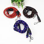 Dog Leashes Portable Solid Polyester Black Red Blue