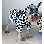Cat Dog Dog Clothes Casual/Daily Plaid/Check White/Black Costume For Pets