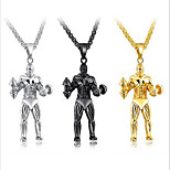 Men's Pendant Necklaces Lariat Y Necklaces Titanium Steel Sports Jewelry For Daily Holiday