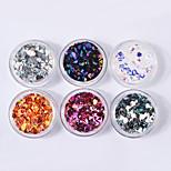 Diamond Colorful Sequins Shell Colorful Nail Art Decoration 6pcs/set