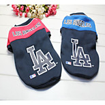 Dog Sweatshirt Dog Clothes Casual/Daily Letter & Number Blue