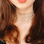 Women's Choker Necklaces Jewelry Drop Crystal Alloy Tassel Multi Layer Fashion Jewelry For Wedding Gift