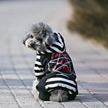 Собака Плащи Толстовки Комбинезоны Джерси Одежда для собак Ткань Хлопок Весна/осень Зима На каждый день Сохраняет тепло Спорт
