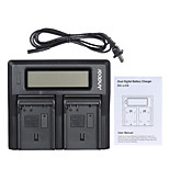 Andoer EN-EL15 Dual Channel Digital Camera Battery Charger w/ LCD Display for Nikon D500 D610 D7000 D7100 D750 D800 D810 D7200