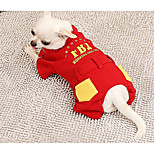 Dog Jumpsuit Dog Clothes Casual/Daily Letter & Number Red Costume For Pets