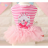 Dog Dress Dog Clothes Casual/Daily Princess Fuchsia