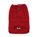 Dog Sweater Dog Clothes Casual/Daily Bone Red Blue Costume For Pets