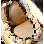 Women's Choker Necklaces Imitation Pearl Geometric Imitation Pearl Alloy Adorable Classic Jewelry For Wedding Stage