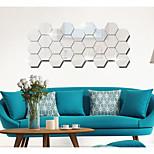 Мода Геометрия абстракция Наклейки Простые наклейки Линза Декоративные наклейки на стены,Акрил материал Украшение дома Наклейка на стену