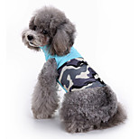 Dog Vest Dog Clothes Casual/Daily Geometric Blue Costume For Pets