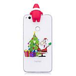 Coque Pour Huawei P9 Lite P8 Lite (2017) Motif A Faire Soi-Même Coque Arrière Dessin Animé 3D Noël Flexible TPU pour Huawei P10 Lite