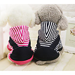 Dog Hoodie Dog Clothes Cotton Down Winter Spring/Fall Casual/Daily British Dark Blue Fuchsia For Pets