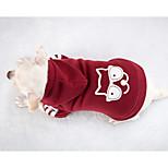 Собака Толстовки Одежда для собак На каждый день Сплошной цвет Красный
