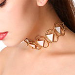Women's Choker Necklaces Collar Necklace Triangle Shape Alloy Sexy Oversized Jewelry For Party Formal